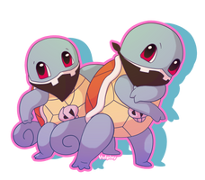 Team Skull Squirtles by Alolan-Vulpixy