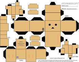 Danbo Cubeecraft Template by Gizzlobber