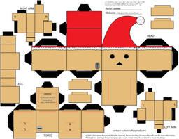 Christmas Danbo Cubeecraft by Gizzlobber