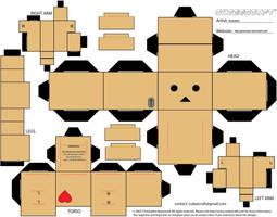 Danbo Heart Cubeecraft by Gizzlobber
