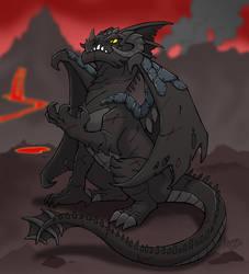mean black dragon by nyemi
