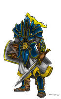 Warcraft- Alliance Footman by Supremehydra