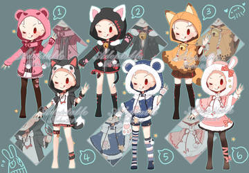[closed] Adoptable: Outfits XI by ZylenXia