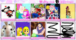 My Top 8 Couples by rabbidlover01