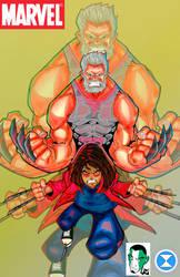 Logan and Laura aka Wolverine  X23 by DM-SketchAlchemist