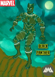 The Black Panther Poster by DM-SketchAlchemist