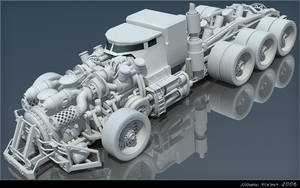 Steam Truck WIP 1 by chiaroscuro
