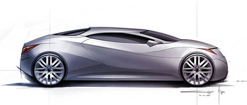 car sketch by CHRU