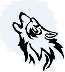 Tribal tatoo wolf by Edeliou