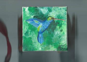 blue hummingbird by Edeliou