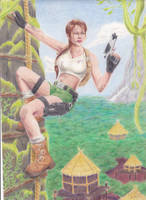 Escape from the Cannibals: Tomb Raider III by ArtisticAdventures