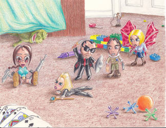 Art Collab: TR: Playful Moments by ArtisticAdventures