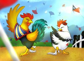 Chickens Love Dancing Cueca by Nekinu-the-Outsider