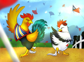 Chickens Love Dancing Cueca by Nekinu-the-Outsider