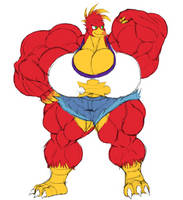 Muscular Kazooie by Thorvrog