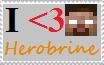 I Heart Herobrine stamp by HerobrineSings