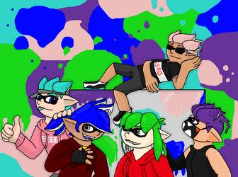 Squid Kids by HerobrineSings