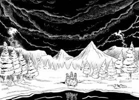 Inktober 2018, Day 27: Thunder by Reinder