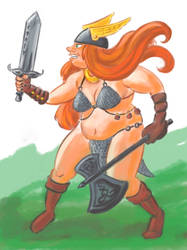 Fatvent Calendar, Day 1: Warrior Princess by Reinder
