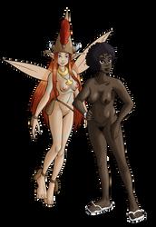 Abui and Adrienne by Shane-Emeraldwing by Reinder