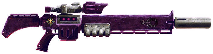 Warhammer 40k Slaanesh Cult Exitus Rifle by darth0lord