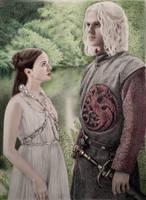 Lyanna and Rhaegar by VKCole