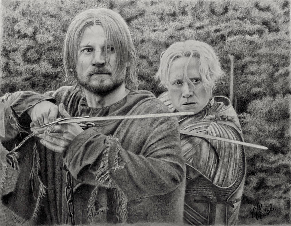 Jaime and Brienne by VKCole