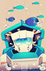 MTMTE: Tailgate and the fishes by c0ralus