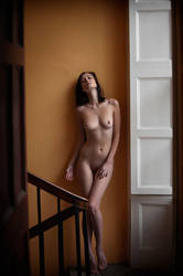 Iveta On The Stairwell by ciaranwhyte