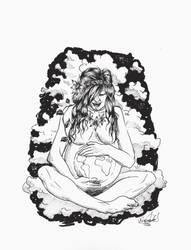 Mother earth Inktober 2017 by Rinkardo