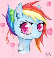 Rainbow Dash - Girly (Remake) by Dashy21