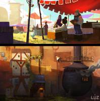 LUZ - Marketplace and Furnace by samsamstudio
