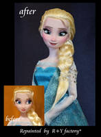 Elsa OOAK doll by RYfactory