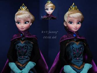 Elsa coronation OOAK Doll by RYfactory
