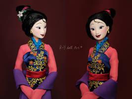 Mulan OOAK doll by RYfactory