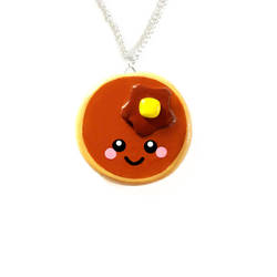 Pancake necklace by LittleMissDelicious