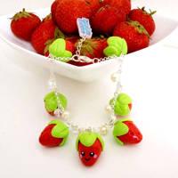 Strawberry bracelet by LittleMissDelicious