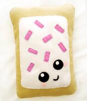 Strawberry Pop Tart Cushion by LittleMissDelicious