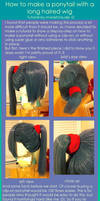 Ponytail wig tutorial 1 by monetclaude