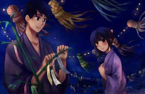 Rising Sun: Tanabata by feeshseagullmine