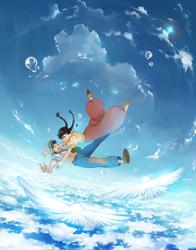 laputa - cloud ocean by feeshseagullmine