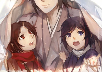 It's raining, Okita-kun! by feeshseagullmine