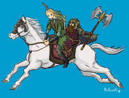 elf+dwarf friendship by reikocchi