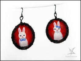 Bunnies couple earrings by MissAnnThropia