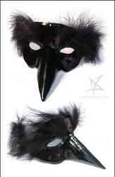 Black bird venetian mask by MissAnnThropia