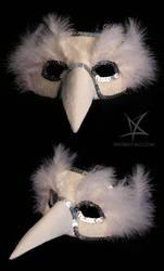 White bird venetian mask by MissAnnThropia