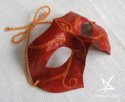 Oriental demon mask by MissAnnThropia