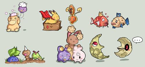 Chibi Pokemon by DarienDoodles