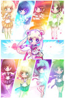 Sailor Senshi by DarienDoodles