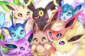 Eeveelution by DarienDoodles